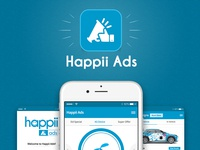 OOH Advertising App Design – Happii Ads