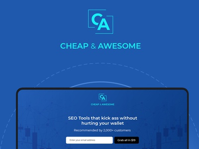 SEO Landing Page Design – Cheap & Awesome – SEO Tools awesome logo premium ux design ux designer ui designer ui ux ui design tools marketing web design seo