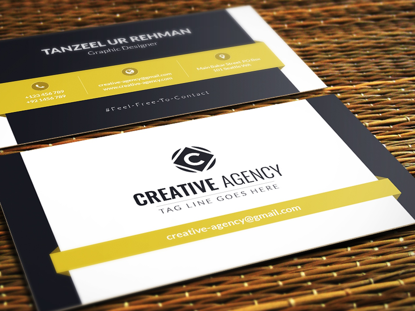 Business Cards Template Free Download By Tanzeel Ur Rehman