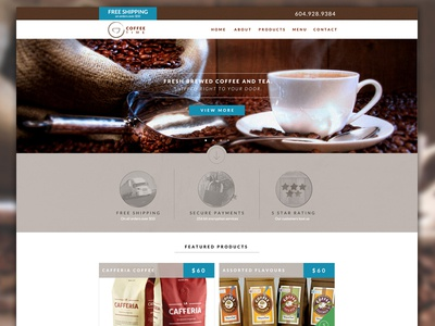 Online Coffee Shop Template