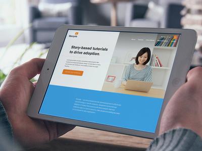 Storyals Homepage Design