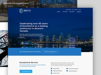 Berts Electric homepage design