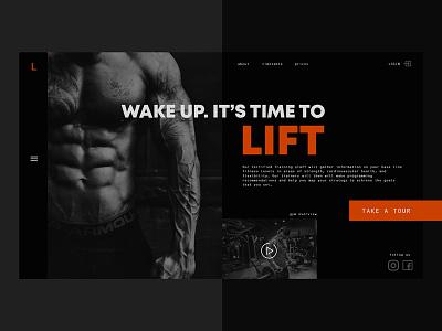 Idea for gym website website gym design web site