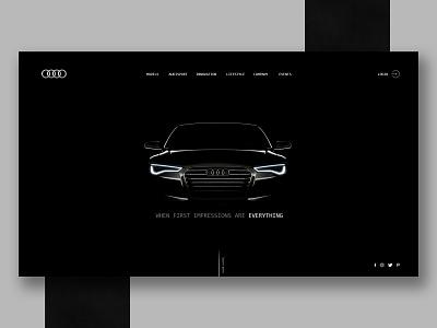 Audi site idea black dark car ux web design idea site audi