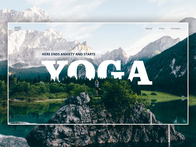 Yoga website web website yoga ux design site
