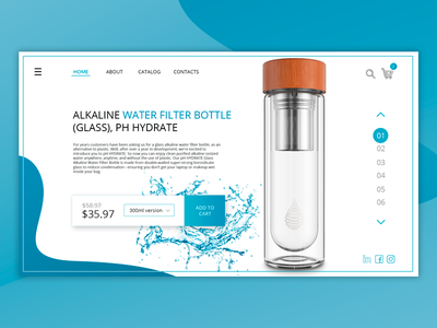 Website for water botles shop idea ux design shop design web page site shop water
