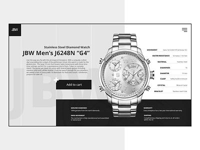 Website for men's watches web idea dark ui ux shop watch design website site