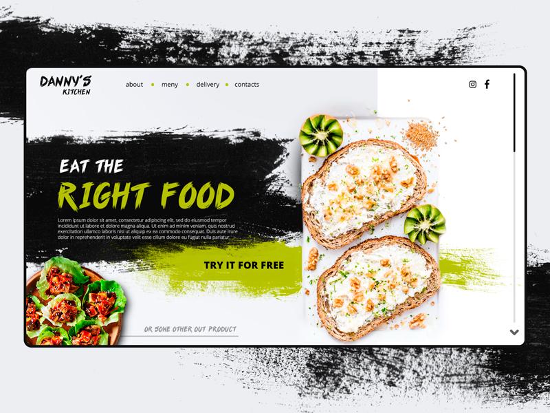 Eat the right food! food ui site online idea website ux design web
