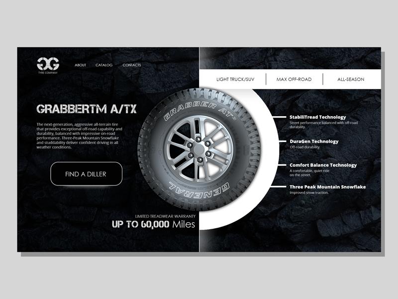 Car tire shop ux  ui ui site design shop online dark idea website ux design web site