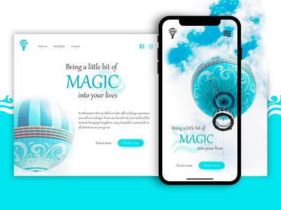 Air balloon website concept online ui design web idea website ux balloon site