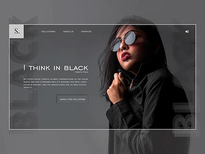 Fashion shop site idea emotions fashion shop ux  ui ui dark online idea website ux design web site