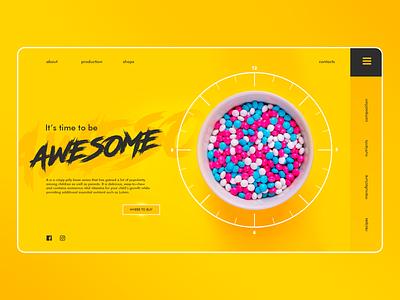 Juicy spring web design yellow emotions online idea website ux design web site