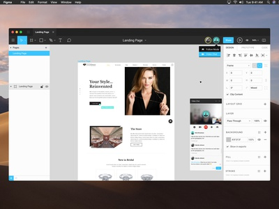 Figma Video Chat Concept landing page recent popular animated animation design tools design app concept chat video call video video chat figma