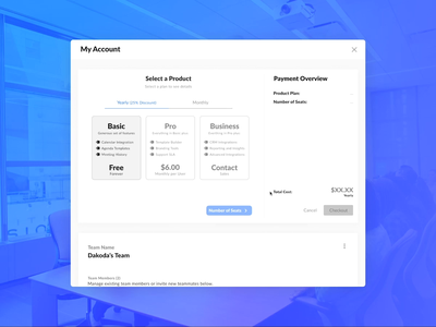 Docket Launches on Product Hunt stripe tiers payment form modal web app pricing page upsell figma animation pricing table pricing checkout page checkout docket product hunt