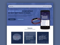 Fitness Tracking landing page