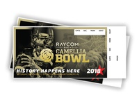 ESPN Camellia Bowl Ticket (Front)