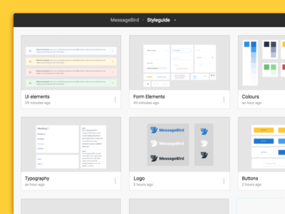 Setting up a design system team libraries sybols sketch figma styleguide sms messagebird icons guidelines