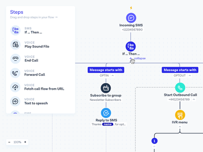Flow Builder UI flow builder flows variables branches steps
