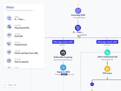 Flow Builder UI flow builder flows variables branches steps