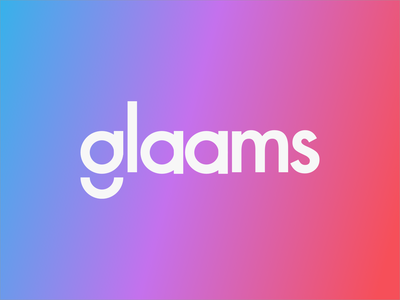 Glaams logo app beauty branding logo design