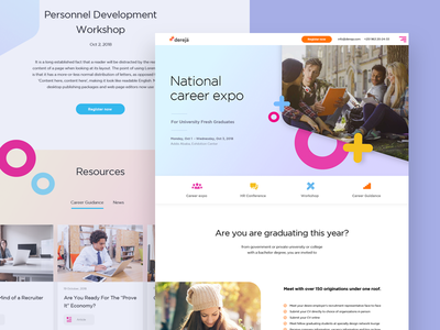 Career Expo - Landing page ux clean human reources hr landing page career