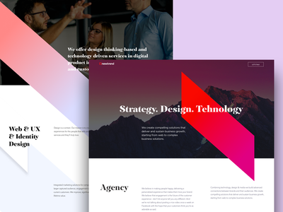 Marketing Agency Landing Page ux landing page agency