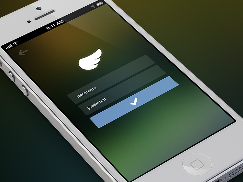 Login shyp login ios iphone password username mobile flat interface design ui button