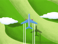 Plane over the fields