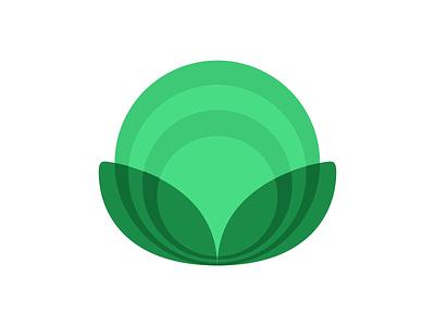 VerdeFonte urban farming organic green. lettuce logo