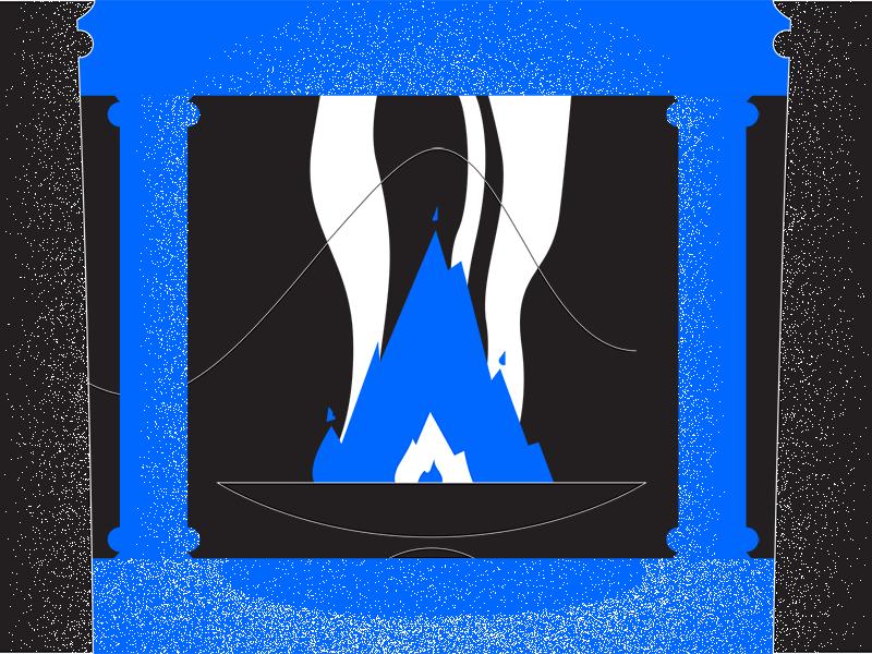 Fire black blue fire