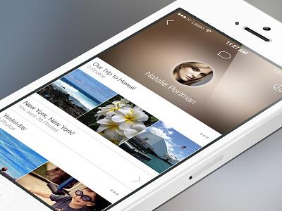 Lasso Update lasso profile update ios7 app photo sharing flat images blur apple clean