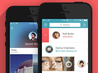 Lasso Update lasso app updates photo camera chat selfie ios7 blur flat iphone ux