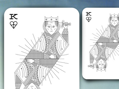 King of Hearts Playing Card poker illustration hearts king playing card card