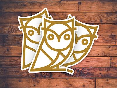 Wit & Wisdom bird illustration single stroke owl wisdom wit sticker