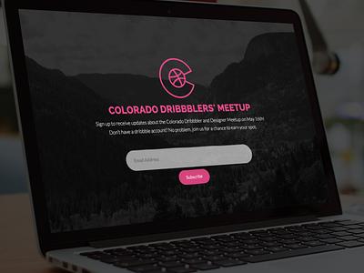 Colorado Dribbblers' Meetup website event colorado springs boulder denver colorado network group meetup