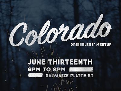 Colorado Dribbblers' Meetup gather colorado social dribbble meetup
