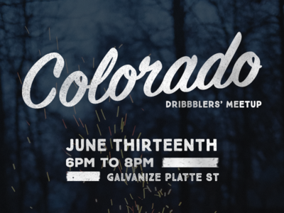 Colorado Dribbblers' Meetup