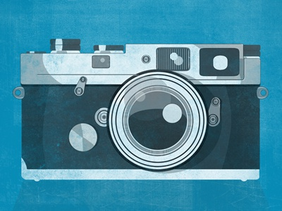 Leica M3 camera poster vintage illustration shutter texture
