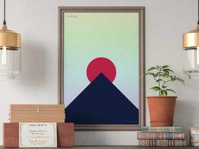 Vanilla Sky abstract poster minimalism processing photoshop p5js javascript graphic design generative automatism art