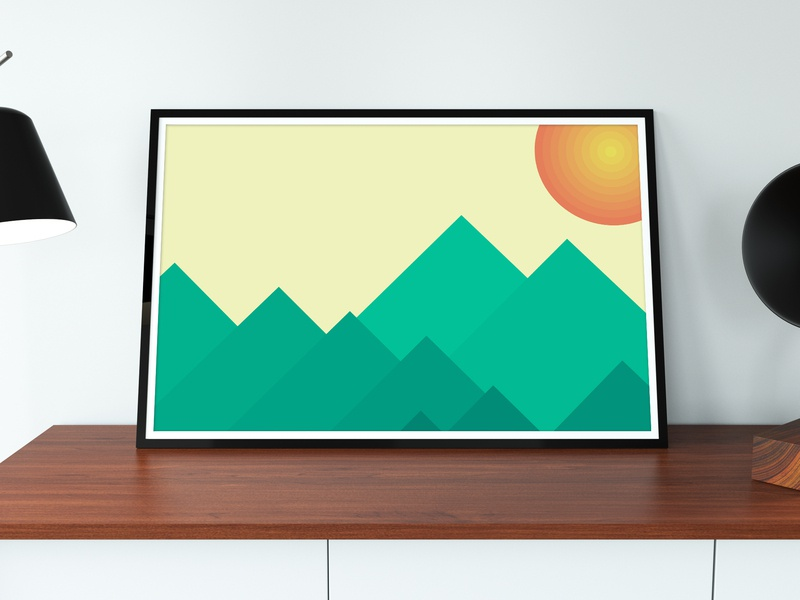 Mountain Range design abstract poster minimalism processing photoshop p5js javascript graphic design generative automatism art