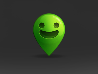 Jollyface Icon icon smiley green bubble glossy anywhere friends rebound