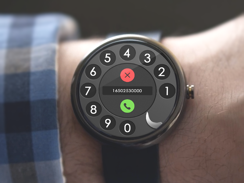 Rotary Dialer google watch android wear rotary dialer psd phone