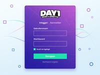 Login modal concept DAY1