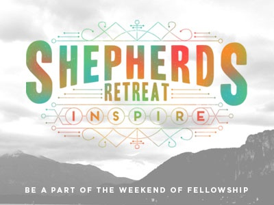 Shepherds' Retreat retreat camp inspire colorful nodes lines fellowship branding event poster