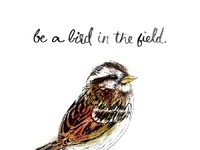 Like a bird in the field