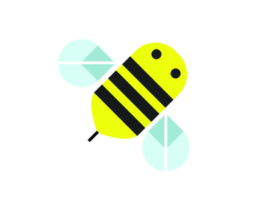 Baby Bumble Bee bumble bee bee illustration clean lines geometric vector
