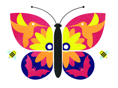 Pollination Party Vector Illustration