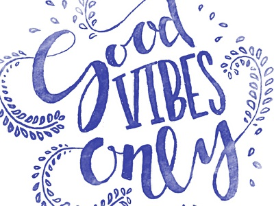 Good Vibes Only apparel peace vibes cursive handwritten type vines typography good vibes only