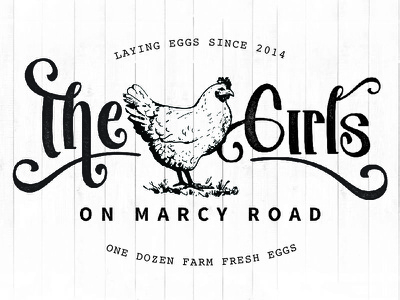 The Girls on Marcy Road Farm Fresh Eggs label farm rustic chicken eggs wood