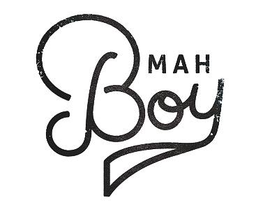 That's Mah Boy! handwritten type typography baby boy